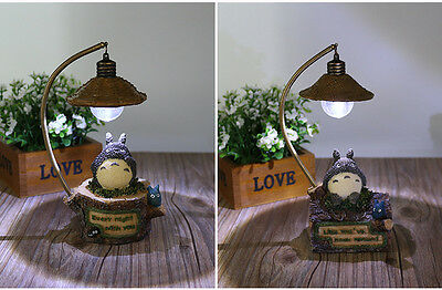 18cm My Neighbor TOTORO Resin Figure LED Night Light Action Doll Decor Kids Toys