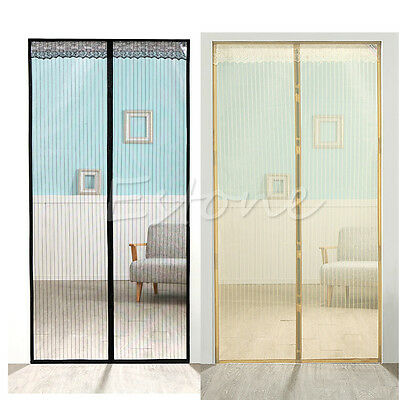 Magnetic Mesh Door Magic Curtain Snap Fly Bug Insect Mosquito Screen Net Guard