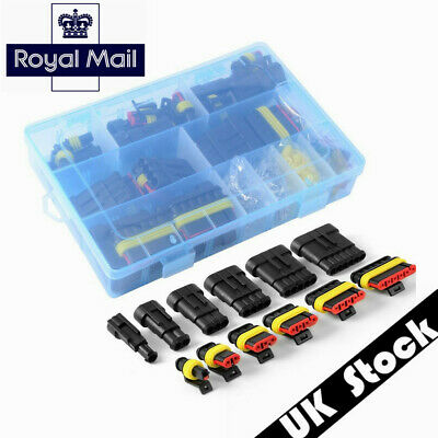 1/2/3/4/5/6 Pin Way Waterproof Electrical Connectors Terminal +Fuses w/Boxes