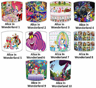 Lampshades Ideal To Match Alice In Wonderland Wall Decals & Stickers & Cushions.