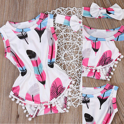 Summer Newborn Kids Baby Girls Cotton Romper Jumpsuit Bodysuit Clothes Outfits