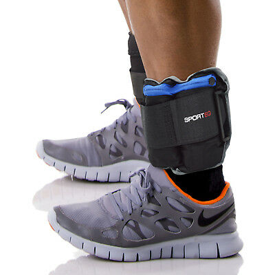 Sporteq Adjustable Wrist Ankle Weights Strength Training Exercise 5kg X 2