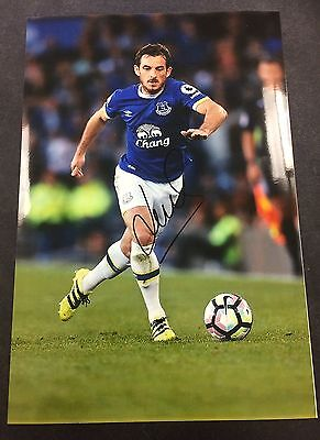 A 12 x 8 inch photo personally signed by Leighton Baines of Everton.