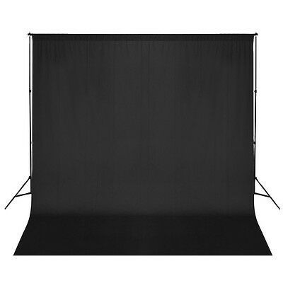3x6m Photo Studio Black Background Backdrop Stand Kit Telescopic Support System