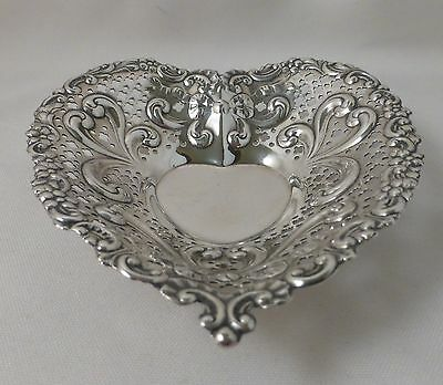 Gorham Sterling Ball Footed Pierced Heart Shaped Dish(es) - 4 1/2""