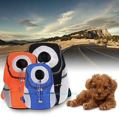 New Pet Dog Carrier Travel Front Bag Mesh Head Out Breathable Outdoor Backpack