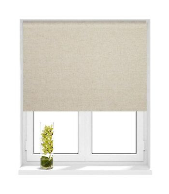 Sunlover THERMAL BLACKOUT Roller Blinds. Textured Linen. Sizes 60cm to 180cm