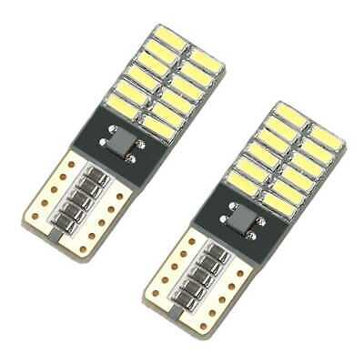 x2 Bombillas LED Blanco Canbus NO ERROR W5W T10 5050 Matricula Posicion Interior