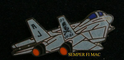 Vf-84 Jolly Rogers F-14 Tomcat Anytime Baby Us Navy Hat Pin Up Uss Topgun Nr Wow