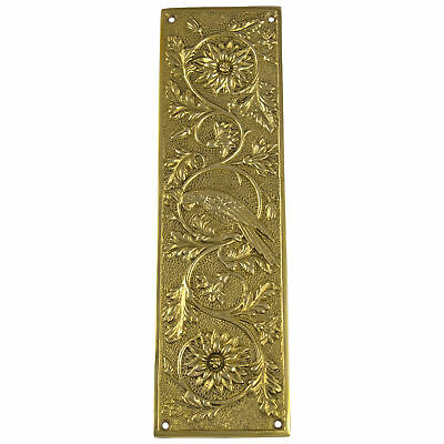 Push Plate Parrot Bird Motif Door Hardware Vintage Restoration Antique Replica
