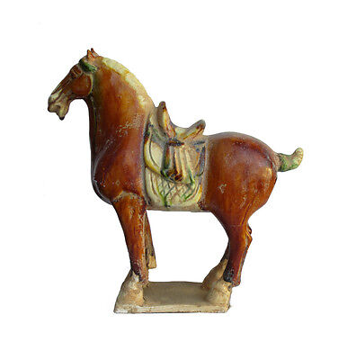 Chinese Pottery Clay  Ancient Style Horse Figure cs732-8