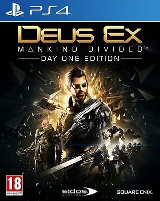 Deus Ex: Mankind Divided - Day One Edition [PlayStation 4 PS4, Region Free] NEW
