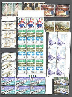 GB 1968 COMMEMORATIVE Stamp Collection Includ BLOCKS UNMOUNTED MINT Ref:QE726