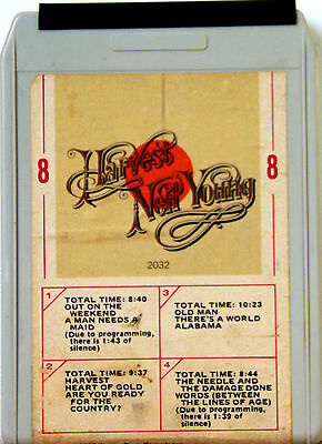 NEIL YOUNG Harvest  8 TRACK TAPE  CARTRIDGE