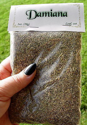 DAMIANA LEAF 28g SMOKEABLE HERB Wicca Witch Pagan Aphrodisiac Visionary Psychic