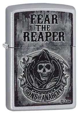 Zippo Satin Chrome 28502 Sons of Anarchy Lighter