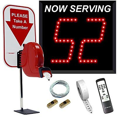 2-Digit Take A Number System with Counter Top Dispenser