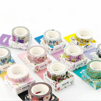 Fashion DIY Floral Washi Sticker Decor Roll Paper Masking Adhesive Tape Crafts