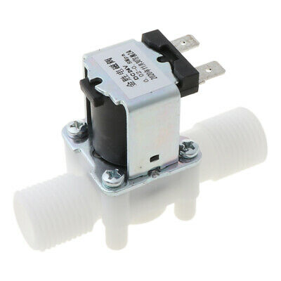 """1/2"""" DC 24V Electric Solenoid Valve Magnetic Water Air Inlet Flow Switch N/C"""