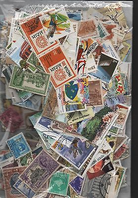 India Kiloware off paper 50gms fine used excellent selection 200+ stamps