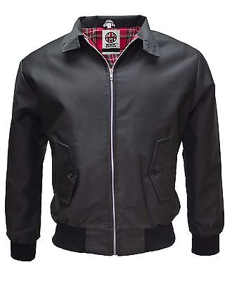 WWK Mens Summer Harrington Jacket Vintage Classic Retro Scooter Bomber Mod NEW