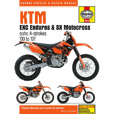 KTM EXC Enduro SX Motocross 2000-07 Haynes Workshop Manual