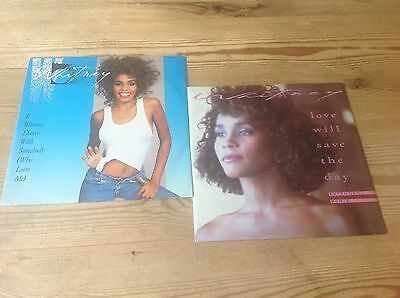 Whitney Houston Two Classic 12 Inch Singles Inc I Wanna Dance With Somebody*nmv