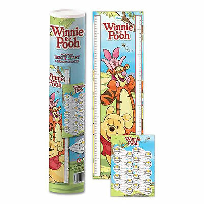 Winnie The Pooh 1.6 Metre Height Chart & Marker Stickers Poster Tigger Piglet