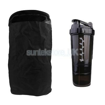 Outdoor Sports Gym Basketball Bag Mixer Nutrition Bottle Cup Pill Powder Box