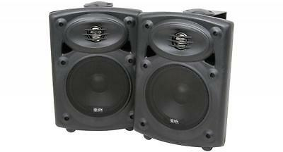 QTX 178.200 QR5AB High Performance 2 Way Amplified Stereo Speaker System Black