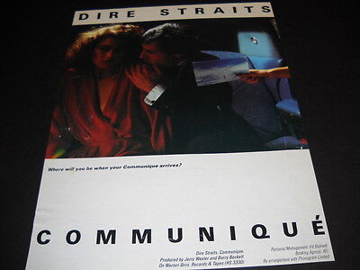 DIRE STRAITS 1979 Promo Display Ad from the album COMMUNIQUE