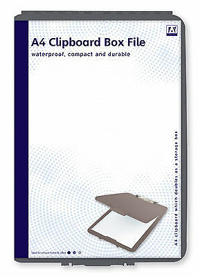 Black A4 Box File Clipboard Paper Storage Holder Tidy Waterproof Durable Copx