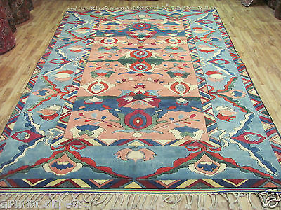 AN ATTRACTIVE OLD HANDMADE KARS TURKISH WOOL ON WOOL RUG (300 x 214 cm)