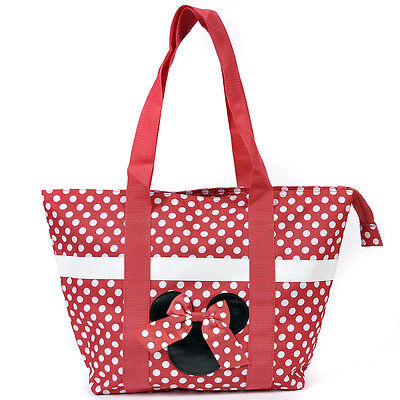 Disney Minnie Mouse Red Zip Tote Bag