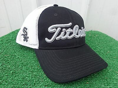 2b5da8c606f Titleist Chicago White Sox MLB Mesh Back Adjustable Snap Back Team Golf Hat  NEW