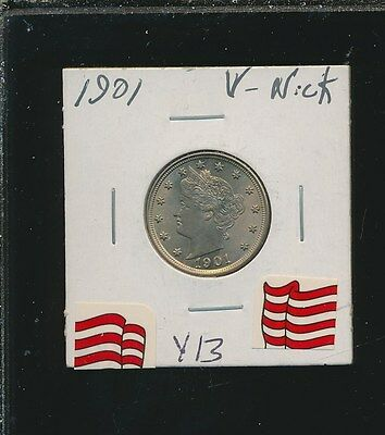 1901 Liberty V Nickel - Rare - Choice Bu - Y13