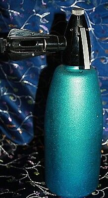 Soda Syphon blue made in Hungry vintage soda syphon complete aqua blue tone