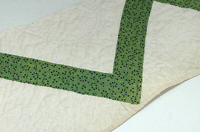 Antique Green 8  x 36 Cutter Quilt Strip Awesome Hand Quilting