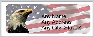 30 Personalized Address Labels US Flag Buy 3 get 1 free (ac 600)