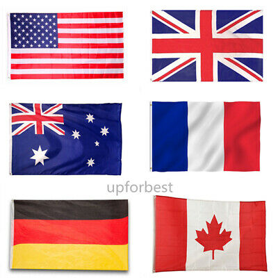 HOT! 3'x5' FT World Country National Polyester USA Canada UK Germany Flags NEW