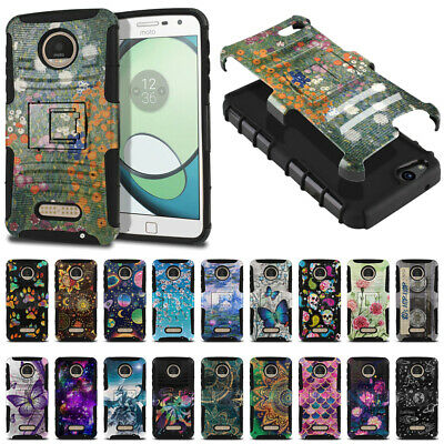 For Motorola Moto Z Play Droid XT1635 Hybrid Shockproof Armor Stand Case Cover
