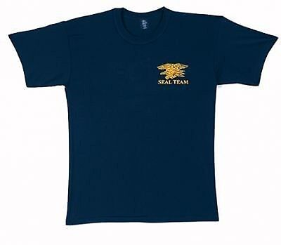 US NAVY SEALS TEAM USN SEAL ARMY LOGO Blue T-SHIRT shirt  XL