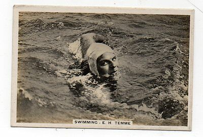 #38 Swimming - cigarette card - E H Temme