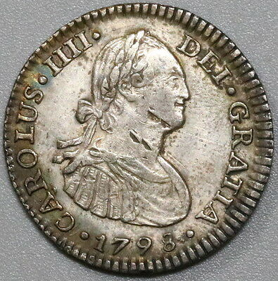 1798 MEXICO Silver 1 Real Colonial Spain Coin (17040809R)