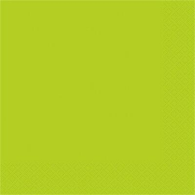 Unique Party 99192 Neon Green Paper Napkins (pack Of 20) - 33cm x 13 20 Lunch