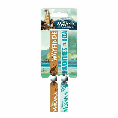 Moana Pack Of 2 Festival Wrist Bands Fabric Strap Adventures In Oceana Disney