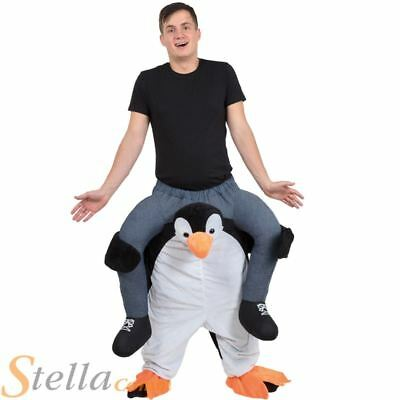 PENGUIN PIGGY BACK RIDE ON NOVELTY FUNNY STAG DO mens adults fancy dress costume
