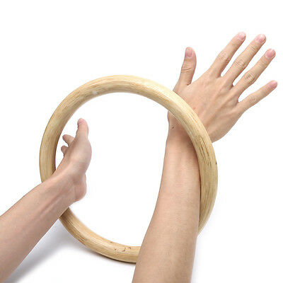 265mm Chinese Kung Fu Hoop Wood Rattan Ring Wing Chun Hand Strength Training