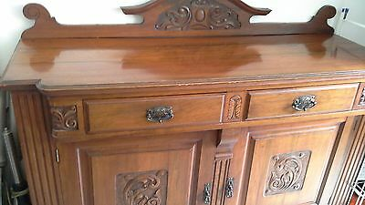 antique mahogany sideboard very ornate