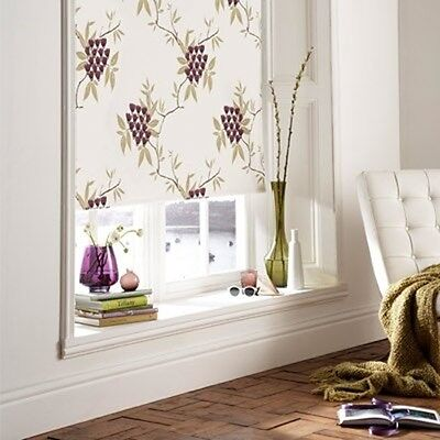 Sunlover THERMAL BLACKOUT Roller Blinds. Violetta Design. Sizes 60cm to 240cm